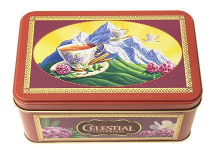 Celestial seasonings tea tins