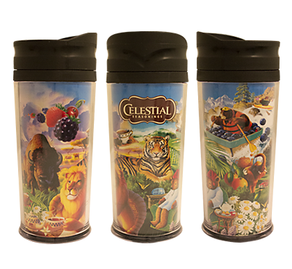 Collage of Artwork Travel Mug