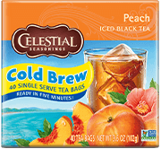 Peach Cool Brew Iced Black Tea - Buy Now