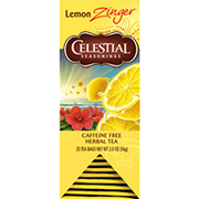 Image of Lemon Zinger Herbal Tea packaging