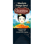 Image of Mandarin Orange Spice Herbal Tea packaging