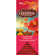 Image of Red Zinger Herbal Tea packaging