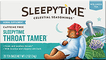Sleepytime Throat Tamer Wellness Tea - Buy Now