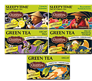 Decaf Green Tea Variety 12-Pack [cel-vpdgreen.jpg] - Click for More Information